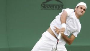Federerleicht auf Rasen