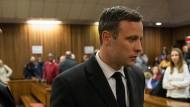 Oscar Pistorius nach einer Anhörung im Juli 2016.