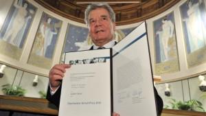 Gauck erhält Geschwister-Scholl-Preis