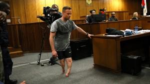 Pistorius ohne Prothesen im Gerichtssaal