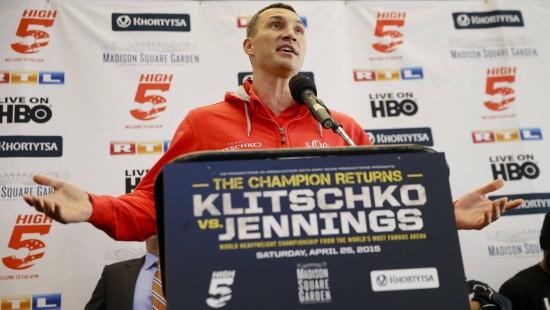 Wladimir Klitschko will seine 27. Titelverteidigung