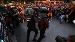 Abermals Ausschreitungen in Katalonien