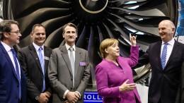 Merkel eröffnet Luftfahrtmesse