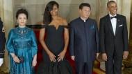 Obama und Xi Jinping beim Staatsbankett
