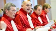 Der Erste Senat des Bundesverfassungsgerichts am Mittwoch in Karlsruhe