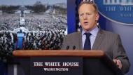 Trump-Sprecher kritisiert Berichterstattung über Vereidigung