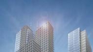 Simulation der geplanten Hochhäuser