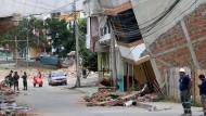 Überwachungskamera zeigt Erdbeben in Ecuador