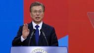 Moon Jae-in als Staatspräsident vereidigt