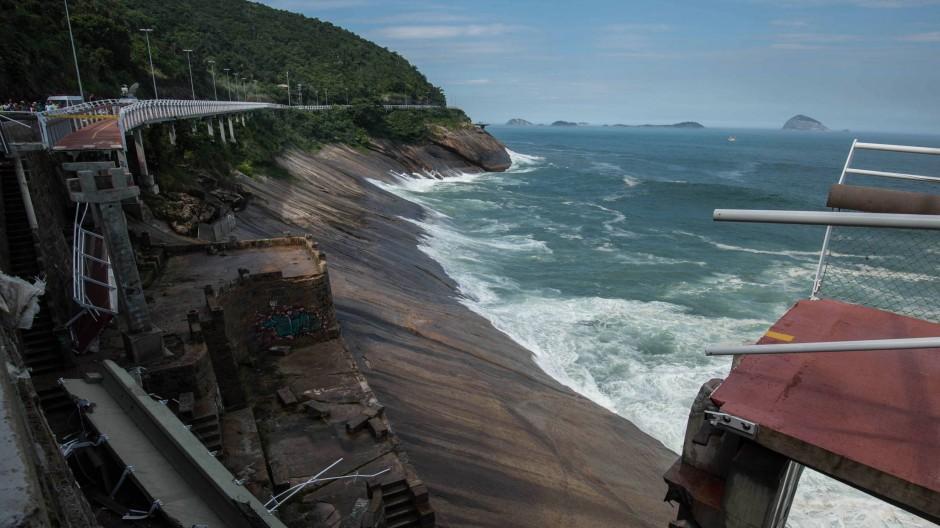 Olympia-Radweg in Rio eingestürzt