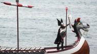 Wikinger-Spektakel auf den Shetland-Inseln