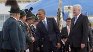 Barack Obama in Deutschland eingetroffen