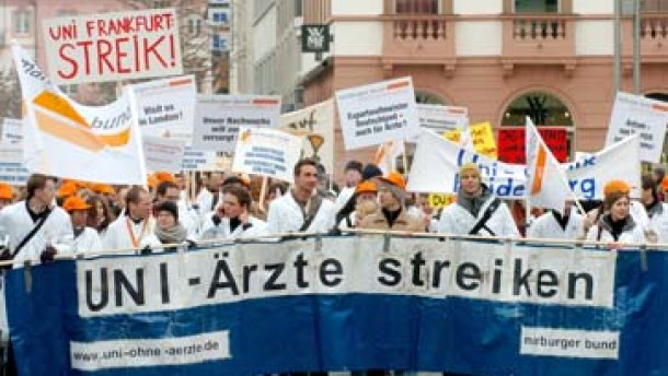 Auftakt zum Streik der Klinikärzte