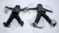 Erster Schneefall in Deutschland