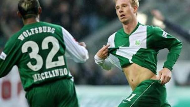 Hanke lässt Wolfsburg jubeln