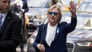 Erkrankte Clinton will Wahlkampf in Kürze fortsetzen