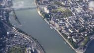 Hier findet die Bundesgartenschau statt: an der Festung Ehrenbreitstein, dem Deutschen Eck und dem Kurfürstlichen Schloss
