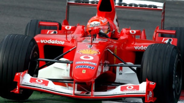 Michael Schumacher auf der Pole Position