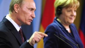 Hürden und Spitzen zwischen Merkel und Putin