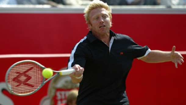 Boris Becker in Aktion