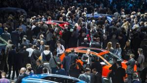 Internationale Automobilausstellung kurz vor Eröffnung