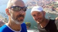 Rui von Porto On The Run und Nils auf einem Selfie in Porto