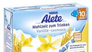 """Fördert Karies und führt zu Überfütterung: Der Gewinner des """"Goldenen Windbeutels"""", Aletes Trink-Mahlzeit."""