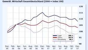 Geschäftsklimaindex signalisiert trübe Aussichten
