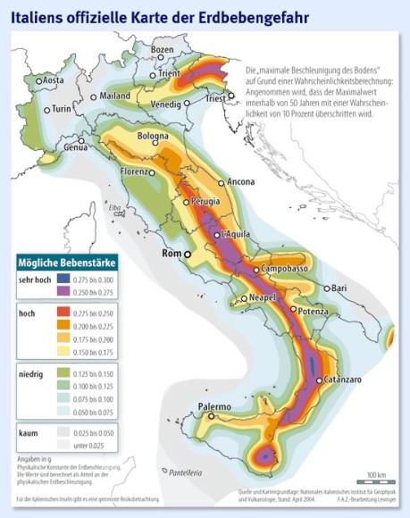 erdbeben italien karte Bild zu: Erdbeben in Italien: Elastische Konstrukte   Bild 1 von 1  erdbeben italien karte