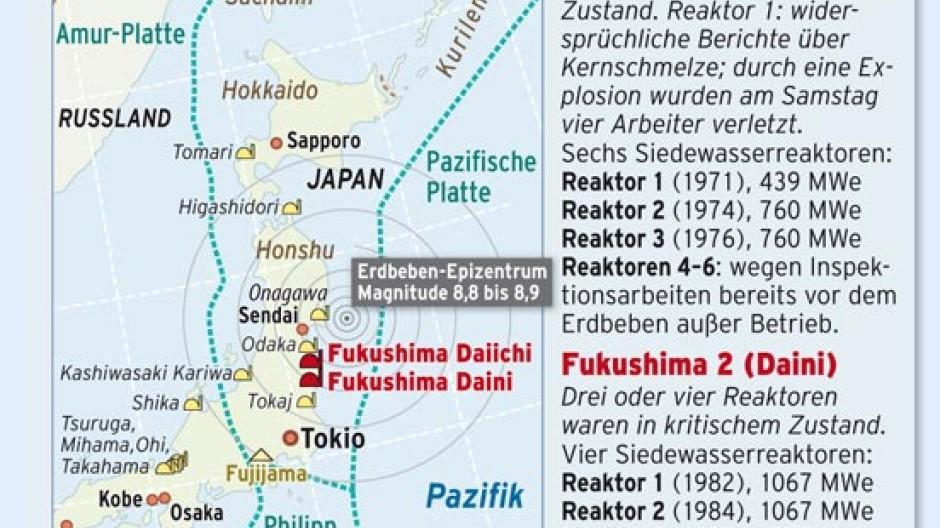 Tschernobyl Karte Belastung Deutschland.Fur Tokio Besteht Keine Gefahr