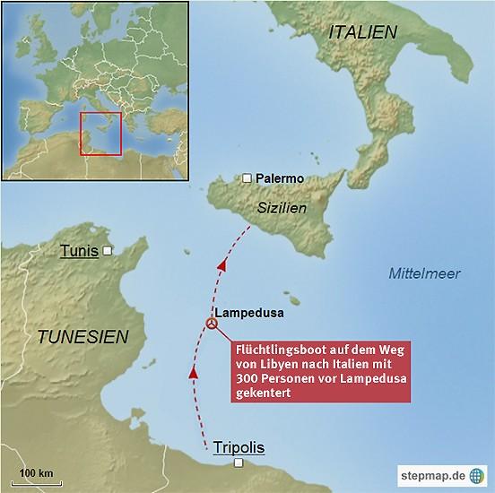 Italien Karte Lampedusa.Bilderstrecke Zu Schiffbruch Vor Lampedusa Mehr Als 200