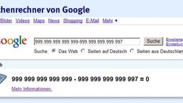 Google kann nicht rechnen
