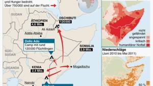 UN erklären Teile von Somalia zu Hungergebiet