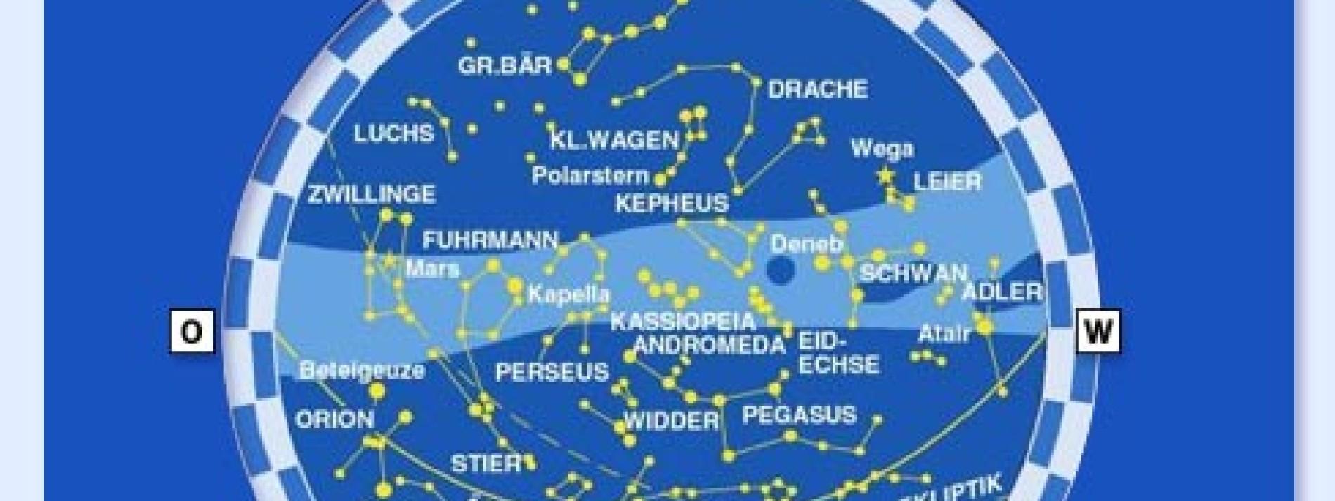 Der Sternenhimmel im November Sternschnuppen aus dem Löwen ...