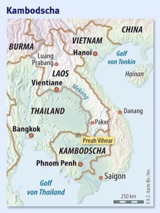 Karte Thailand Kambodscha.Gefechte Zwischen Kambodscha Und Thailand Der Fluch Des Tempels
