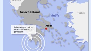 Starkes Erdbeben in Griechenland