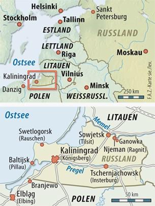Königsberg Kaliningrad Karte.Bilderstrecke Zu Russische Exklave Königsberg Wo Die Habenichtse