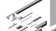 Im Totentempel erlaubten es variable Dachhöhen, die Fenster strategisch zu plazieren. Die Schmalseite des Säulenhofs in der Mitte maß etwa zehn Meter.