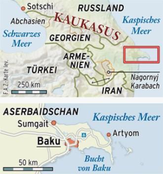 Baku Aserbaidschan Karte.Aserbaidschans Hauptstadt Baku Stadt Auf Grosser Flamme
