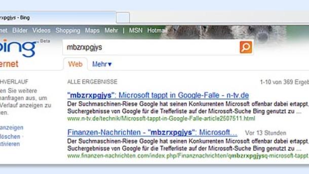 Microsoft tappt in Googles Falle