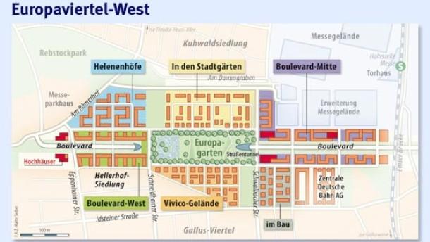 frankfurter europaviertel hochwertige wohnungen am europagarten frankfurt faz. Black Bedroom Furniture Sets. Home Design Ideas