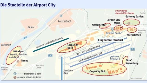 Wenn der Flughafen zur Stadt am Rand der Stadt wird
