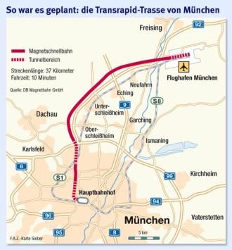 Nach Krisensitzung Zur Magnetschwebebahn Münchner