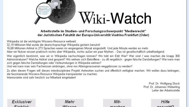 Externe Aufpasser wollen Wikipedia verbessern