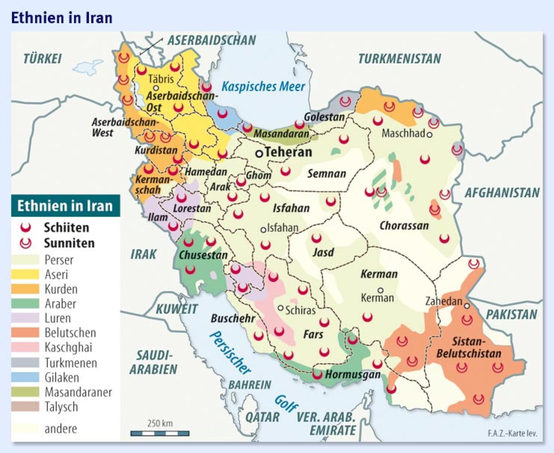 Iran Fragiler Vielvolkerstaat Politik Faz