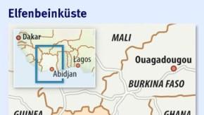 Infografik / Karte / Elfenbeinküste