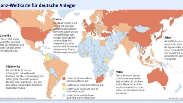 Die Lücken der Finanz-Weltkarte schließen sich