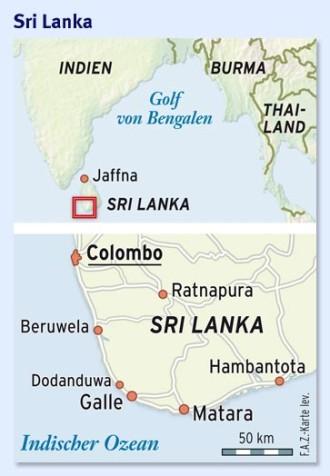 Sri Lanka Karte Zum Drucken.Sri Lanka Weniger Ist Meer Fern Faz